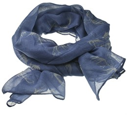 452002 scarf 100% polyester blue