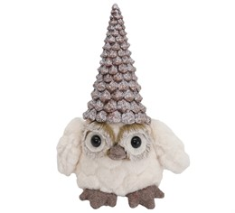 756580 owl with a pine cone hat