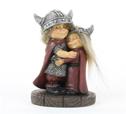 756788 statuette Viking hugging